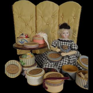 "3"" x 1 1/2"" Mlle. Bereux Round Hat Box"