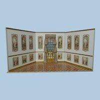 "Stunning 20"" (height) Wood Room Box/ Display for Dolls"