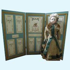 """18"""" Teal and White Screen for Dolls"""