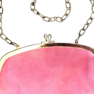 Vintage Pink Suede Purse or Clutch