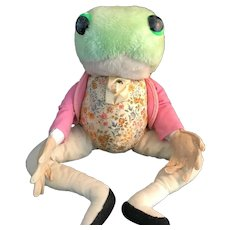 Vintage Jeremy Fisher Frog by Eden Toys
