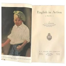 English in Action Book ONE by JC Tressler 1929 1st Edition Illustrated HC