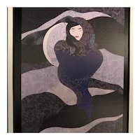 """""""Cloaked In the Night"""" Lithograph, Signed"""