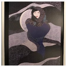 """Cloaked In the Night"" Lithograph, Signed"
