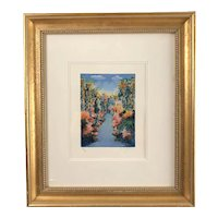 """""""Summer Skies"""" Serigraph by Yuval Wolfson,  signed &  framed"""
