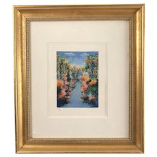 """Summer Skies"" Serigraph by Yuval Wolfson,  signed &  framed"