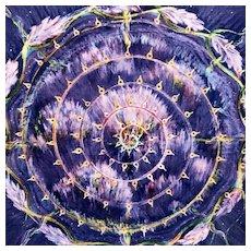 """""""Mandala #20"""" by artist Kristy Gjesme , framed & signed"""