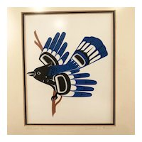 """Stellar's Jay"" by Larry Rosso,  Signed & Framed"