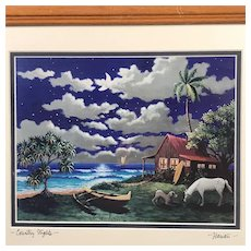 """Country Nights"" Hawaii Print by M Van Dorn , signed"