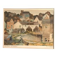 """Saturday Afternoon"" Print Signed by AJ Casson, Matted & Framed"