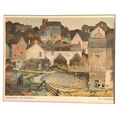 """""""Saturday Afternoon"""" Print Signed by AJ Casson, Matted & Framed"""