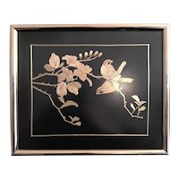Birds on a Branch Chinese Straw Art