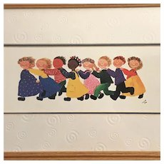 Children Playing Print by Ingrid Beck, Framed