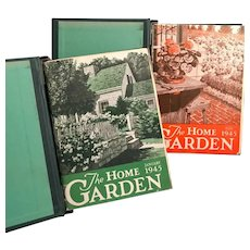 1945 The Home Garden Magazine Bound Set, WWII