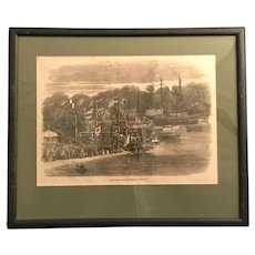 1862  The Ipswich Life-Boat , Victorian River Scene Framed Print