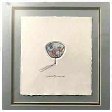 """Seattle Fan"" Washington Space Needle Art, Signed"