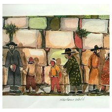 """Western Wall"" by Amram Ebgi, Signed, Framed & Matted"