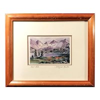 """""""Heart Lake"""" Lithograph Signed by Lady Jill Mueller"""