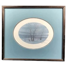 """Silent Eve"" signed & numbered by P.B. Moss, Framed & Matted"