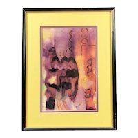 Original Abstract Watercolor, signed Ehrenreich