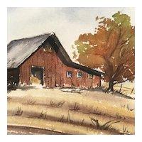 """""""End of Season"""" Original Watercolor by Naomi Snider"""