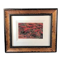 Salmon Print by Kim Drew, signed & framed