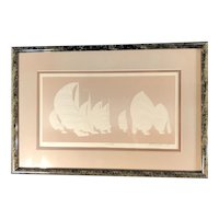"""Regatta"" Embossed Serigraph by Woodward, Limited Edition Signed & Framed"