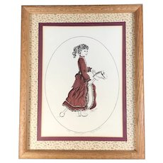 """Yesteryear"" Hand Colored Print by Peggy Hinton, signed & numbered"