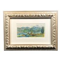"""""""Tebay Lake Alaska"""" Original Watercolor, Signed"""