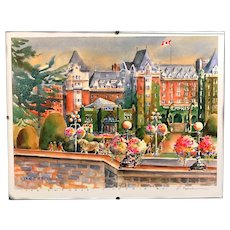 """"""" The Empress """" Victoria, BC by Kathleen Lynch, signed"""