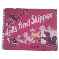 Let's Find Skipper Vintage 1944 Childrens Pop Up Book by Jeffrey Victor with Pictures by Dauber