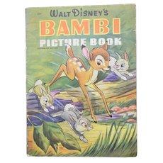 1942 Bambi FIRST EDITION Disney Linen Like Children's Book
