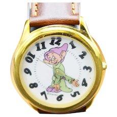 1993 Vintage Disney Dopey Limited Edition Collectors Club III Watch