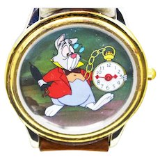 1993 Alice In Wonderland Disney Watch Collectors Club Series II Limited Edition FOSSIL