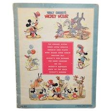 1937 Walt Disney's Mickey Mouse #973 Linen-Like Book