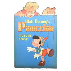 1940 Pinocchio Cut Out Picture Book - Outstanding Condition!