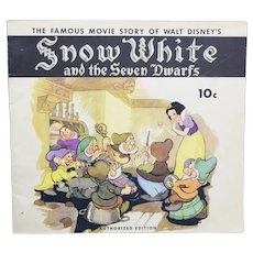 1938 The Famous Movie Story Snow White And The Seven Dwarfs Authorized Edition