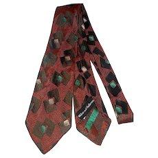 1940s-50s silk tie Weber & Heilbroner wide necktie