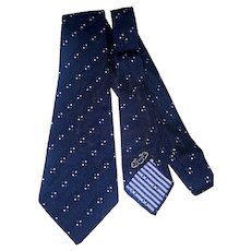 1940s-50s silk Arrow wide navy necktie