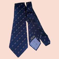 1940s-50s silk Arrow wide navy necktie