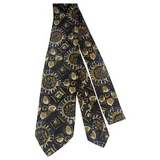 1950s-60s Silk skinny tie rat pack era