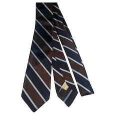 1950s-60s Silk skinny tie Paul Bennett Ltd British Regimental rat pack era