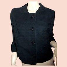 1950s-60s Gainsborg dressy crop jacket S Mad Men