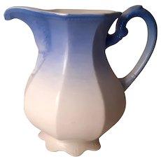 1910 blue ombre wash basin water pitcher East Palestine Pottery Company Vashti