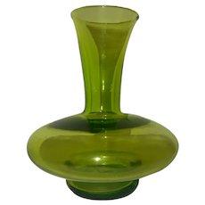 Apple green studio art glass modernist vase