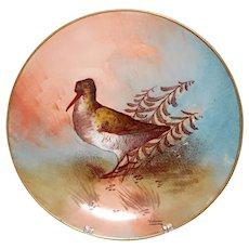 Antique Limoges  Valentin handpainted bird plate LRL porcelain