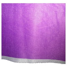 1.8 Yards 1970s-80s orchid purple polyester fabric - Linen texture