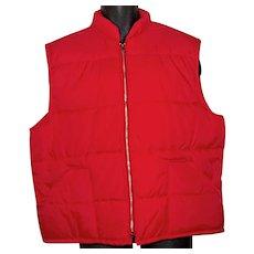 1970s-80s Kingsport puffer men's vest jacket XL 46 puffy
