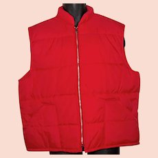 1970s-80s Kingsport puffer men's vest jacket XL 46 puffy