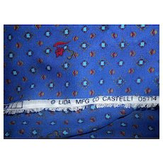 1.6 Yards 1970s-80s Castelli pattern sheer crepe fabric by Lida Mfg. Co.